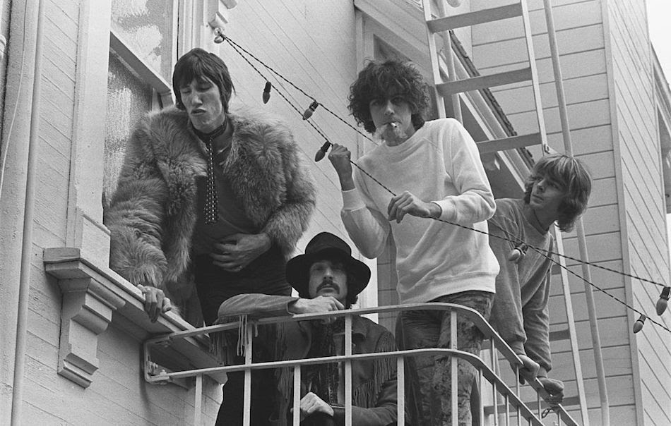 I Pink Floyd nel novembre 1967. Da sinistrat: Roger Waters, Nick Mason, Syd Barrett, Richard Wright. Foto di Baron Wolman/Iconic Images/Getty Images